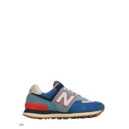 New balance 574 мужские сине-голубые