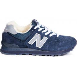 Кроссовки New Balance сине-серые зимние