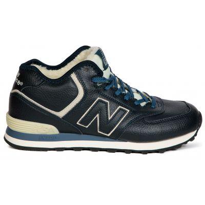 Кроссовки New Balance черно-синие зимние