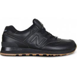Кроссовки New Balance черные кожаные