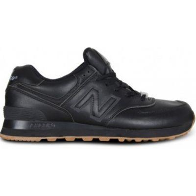 New Balance черные кожаные