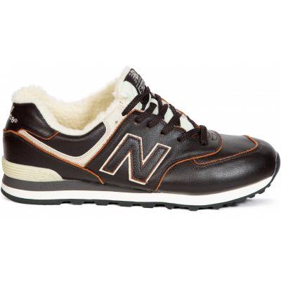 Кроссовки New Balance черно-белые зимние