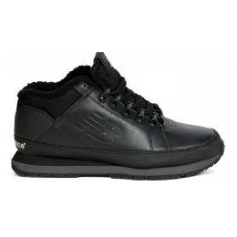Кроссовки кожаные New Balance черные зимние