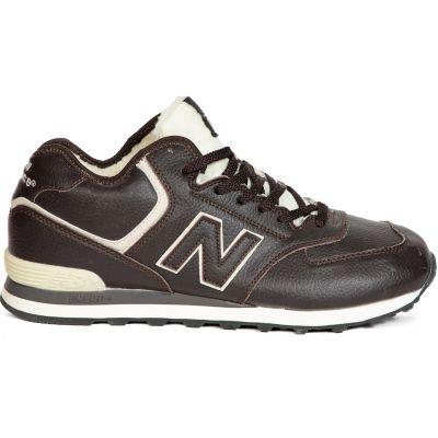 Кроссовки мужские New Balance (Нью Баланс) черно-белые зимние
