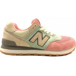 New Balance женские зелено-розовые зимние