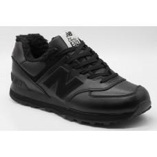 New Balance 574 зимние черные