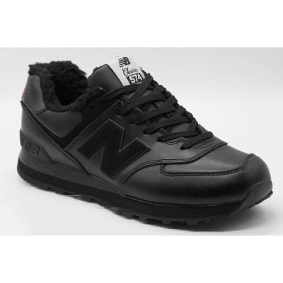 Кроссовки New Balance 574 зимние черные